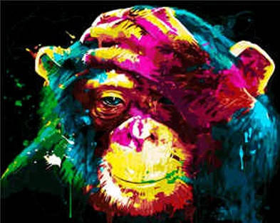 """Набір для розпису по номерах VA-2051 """"Яскраве мавпеня"""", розміром 40х50 см, фото 2"""