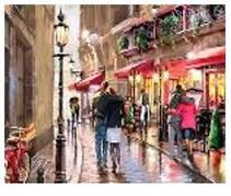 """Картина по номерам """"Город дождливый"""" 40*50см,крас.-акрил,кисть-3шт.в коробке"""