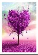 """Картина по номерам """"Дерево-сердце"""" 40*50см,крас.-акрил,кисть-3шт.в коробке"""
