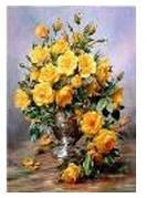 """Картина по номерам """"Жёлтый натюрморт"""" 40*50см,крас.-акрил,кисть-3шт.в коробке"""