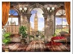 """Картина по номерам """"Лондон из окна"""" 40*50см,крас.-акрил,кисть-3шт.в коробке"""