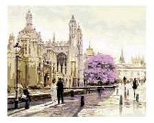 """Картина по номерам """"Лондон утренний"""" 40*50см,крас.-акрил,кисть-3шт в коробке"""
