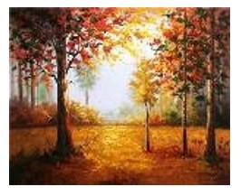 """Картина за номерами """"Осінь золота"""" 40*50см,крас.-акрил,кисть-3шт в коробці"""