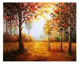 """Картина за номерами """"Осінь золота"""" 40*50см,крас.-акрил,кисть-3шт в коробці, фото 2"""
