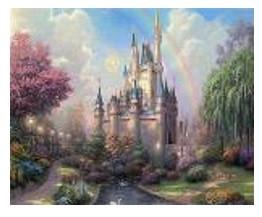 """Картина по номерам """"Сказочн.замок"""" 40*50см,крас.-акрил,кисть-3шт.в коробке"""