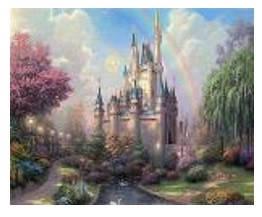 """Картина по номерам """"Сказочн.замок"""" 40*50см,крас.-акрил,кисть-3шт.в коробке, фото 2"""