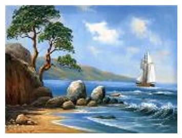 """Картина по номерам """"Парусник у берега"""" 40*50см,крас.-акрил,кисть-3шт в коробке, фото 2"""