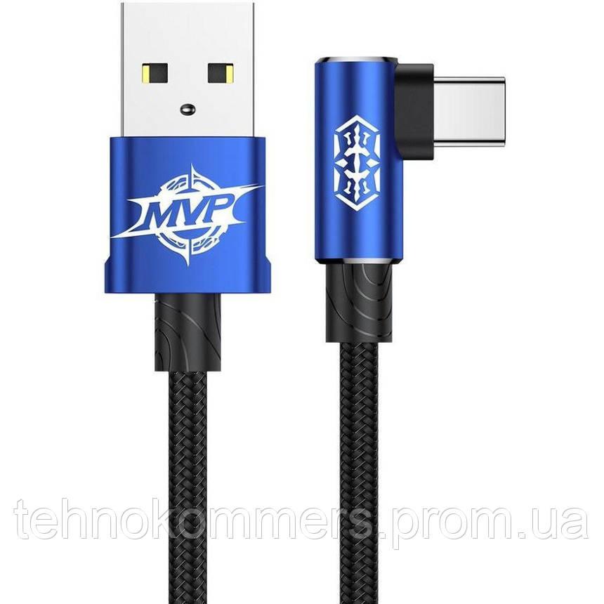 Кабель Baseus MVP Elbow USB Type-C USB 2 A 1m Blue, фото 2