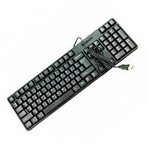 Проводная USB клавиатура Black Antelope Keyboard TJ-818, фото 2