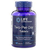 Мультивитамины Дважды в День, Two-Per-Day, Life Extension, 60 таблеток