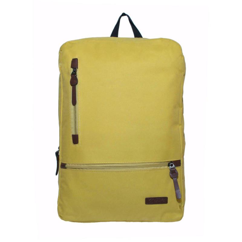 Рюкзак городской повседневный спортивный City Backpack горчичный (для учебы, работы, путешествий)