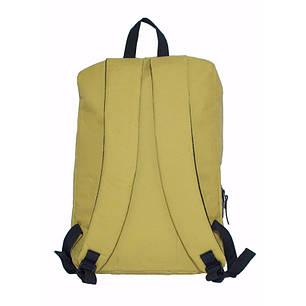 Рюкзак городской повседневный спортивный City Backpack горчичный (для учебы, работы, путешествий), фото 2
