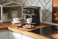 Кофеварка кофемашина для дома кофеварки электрические Mesko MS 4409 850W Black + пенообразователь