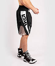 Шорты для бокса Venum Arrow Loma SIgnature Collection Boxing Shorts Black White, фото 2