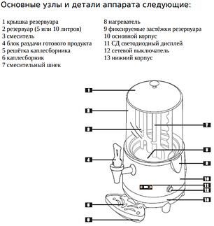 Аппарат для горячих напитков Airhot CHOCO-10, фото 2