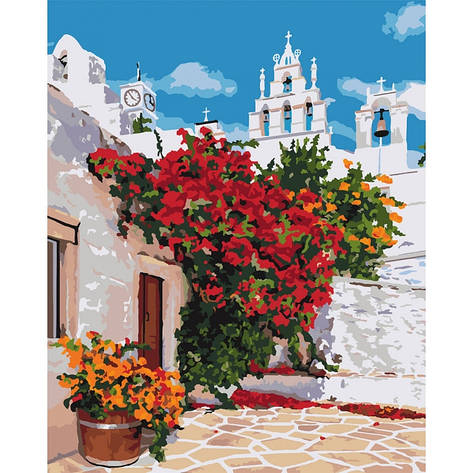 """Набір для розпису по номерах """"Квітуча Греція"""" 40*50см, фото 2"""