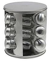 Набор баночек Benson для специй 12 шт на подставке Прозрачный / Стальной (RI0415)