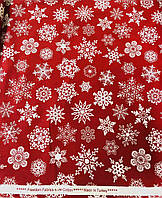 Ранфорс Новогодний красный 100% хлопок 240 см, фото 1