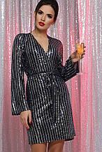 Вечернее платье с пайетками синий серебро Земфира