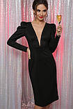 Вечернее платье миди в черном цвете Солли, фото 2