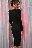 Вечернее платье миди в черном цвете Солли, фото 4
