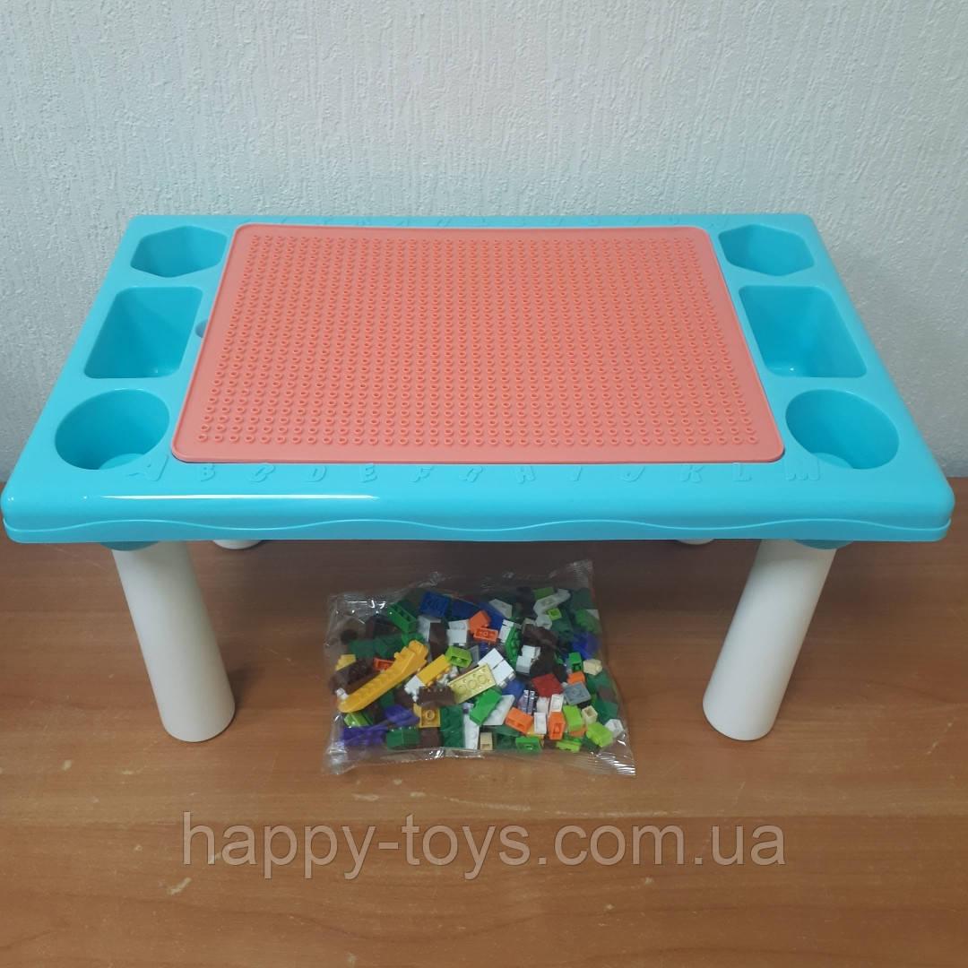 Игровой столик для песка и воды, детский столик с Конструктором 300 Маленьких деталей 9182