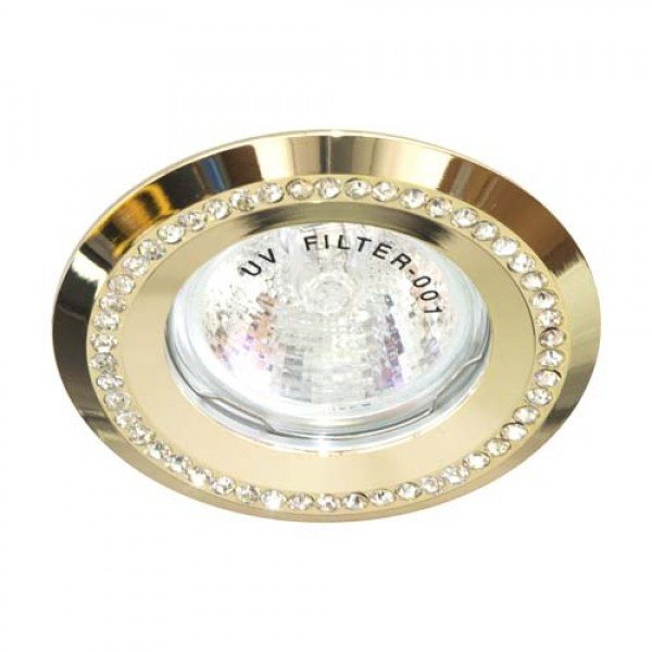 Встраиваемый светильник Feron DL103-C прозрачный золото