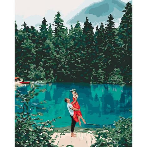 """Набір для розпису по номерах. """"Побачення біля озера"""" 40*50см, фото 2"""