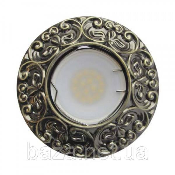 Встраиваемый светильник Feron CD004 античная медь