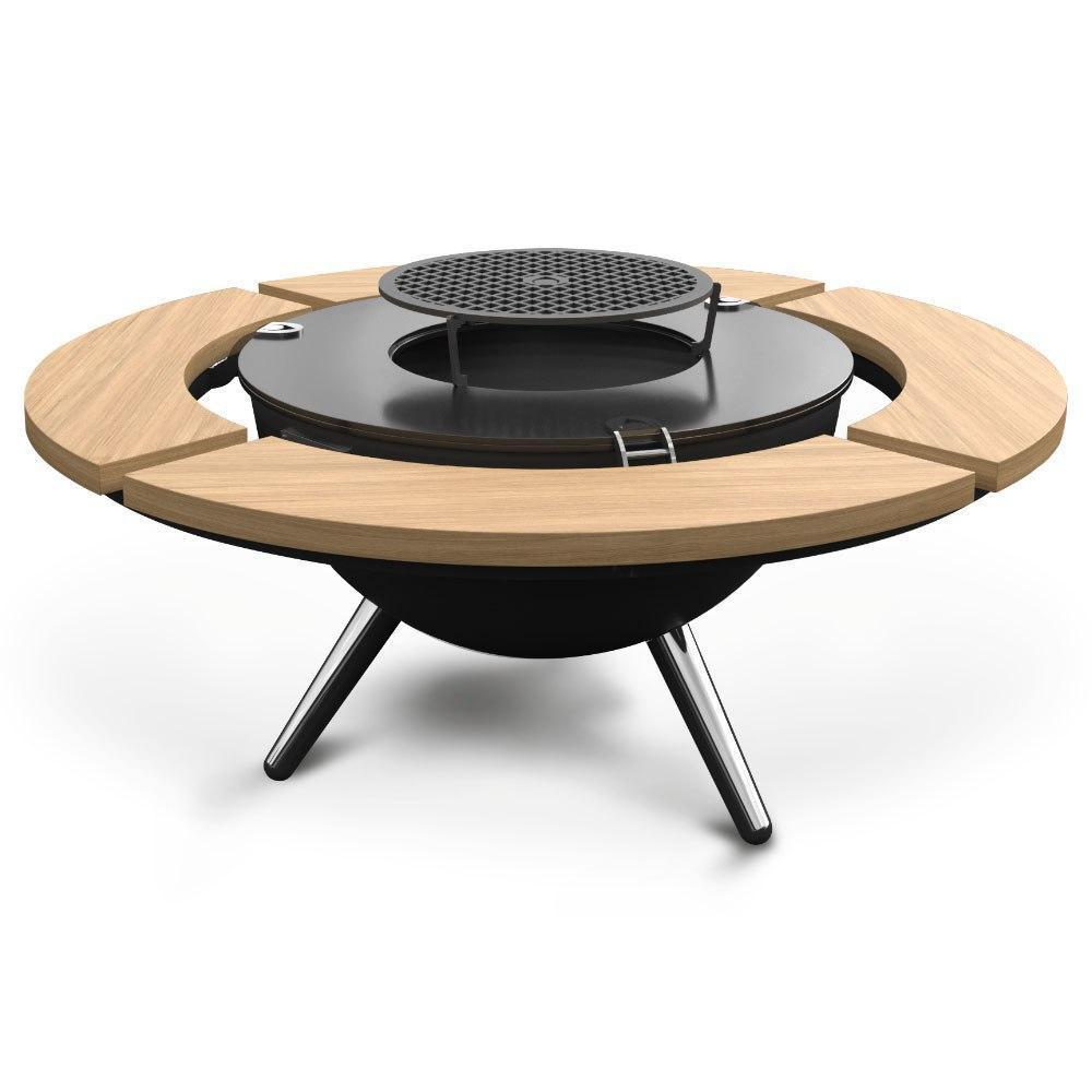 Круглый мангал гриль со столом AHOS INSPIRATION