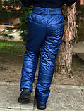 Детские зимние штаны на синтепоне 128 - 152, фото 2