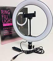 Кольцевая лампа UKC светодиодная LED кольцевой свет с гибким держателем для телефона USB 3 режима 26см