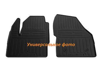 Коврики в салон резиновые передние для  TOYOTA Tundra (Double Cab/Сrew Max Cab) 2014-2017Stingray (2шт)