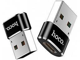 Переходник Hoco UA6 USB Type-C-USB Black