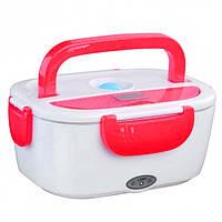 Ланч-Бокс с подогревом Electric Lunch Box Y001 от сети 12 В Красный