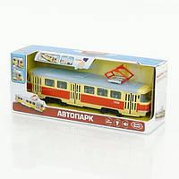 Трамвай 9708 А (24) підсвітка,звук,відкриваються двері, інерція