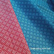 55005 Геометрический узор в клетке (красный). Ткани для рукоделия и шитья., фото 2
