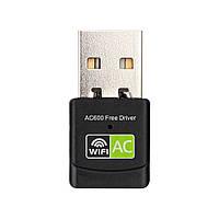 Wi-Fi адаптер 5 Ghz / 2.4 Ghz двухдиапазонный Alitek AC600 Free driver Black