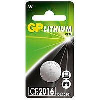 "Батарейка ""таблетка"" литиевая GP CR2016-U1 3V"