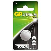 "Батарейка ""таблетка"" литиевая GP CR2025-U1 3V"