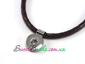 Кулон Noosa плетеному шнурі, коричневий