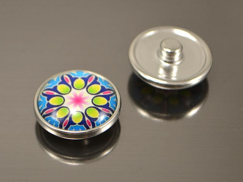 Кнопка Noosa скло, Мандала #46