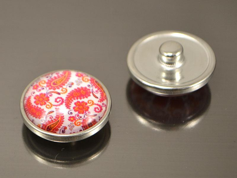 Кнопка Noosa скло, Квітковий мотив #53