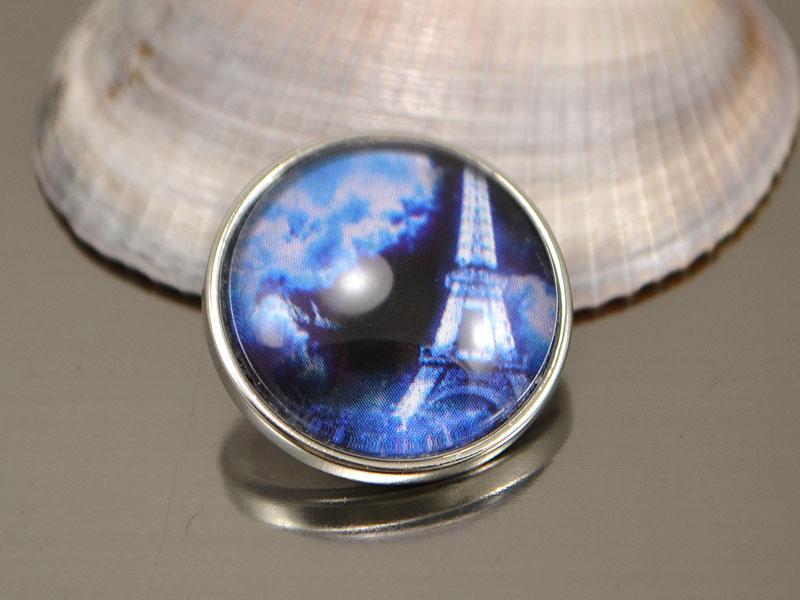 Кнопка Noosa стекло, Ночной Париж #56