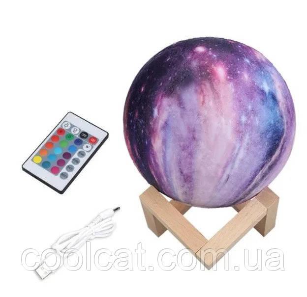 Настольный светильник ночник 3D Космос с пультом - Magic 3D Moon Light RGB