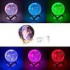 Настольный светильник ночник 3D Космос с пультом - Magic 3D Moon Light RGB, фото 2