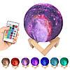 Настольный светильник ночник 3D Космос с пультом - Magic 3D Moon Light RGB, фото 5