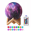 Настольный светильник ночник 3D Космос с пультом - Magic 3D Moon Light RGB, фото 7