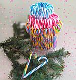 Candy Canes Новогодние леденцы трости карамель Тутти- Фрутти 12 грамм 12 см, фото 2