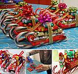Candy Canes Новогодние леденцы трости карамель Тутти- Фрутти 12 грамм 12 см, фото 3
